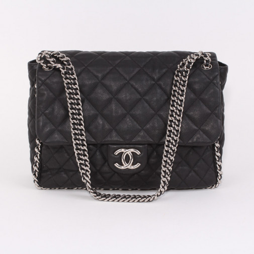 Sac Chain Around Maxi Jumbo Flap Bag