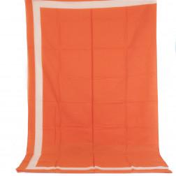 Paréo bicolor naranja y blanco