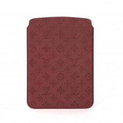 Funda para Ipad Air en cuero Monogram Perforado rojo