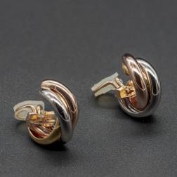 Par de clips para las orejas Trinity 3 oros Medium Modelo