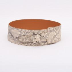 Cinturón ancho Etrivière en pitón