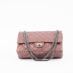 Bolso 2.55 Modelo Mediano, cuero rosa dorado.