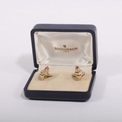 Clips de oreja Diablotine de 18 k de oro amarillo y Turmalina