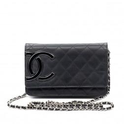 Bolso Wallet on Chain Cambon de piel negra