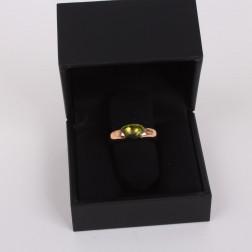 Anillo Sassi oro amarillo 18 k con un peridoto