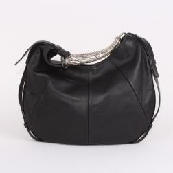 Bolso Mombassa piel de cordero negro