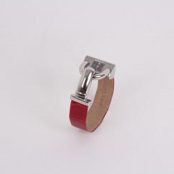 Reloj de señora Cadenas de acero y bracelet de cocodrilo rojo