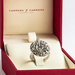 Anillo Shanghai oro blanco de 18k y diamantes, Linea Circle of Fire