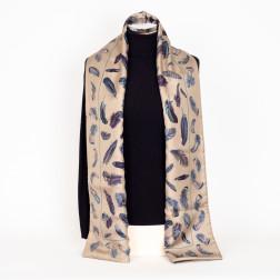 Bufanda doble en lana de angora y seda.