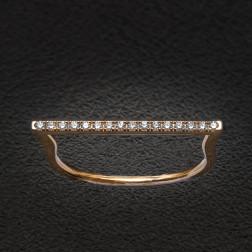 Anillo Gatsby Barette oro rosa 18q et diamantes