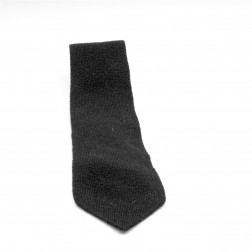 Corbata negra, 100% lana