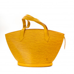 Bolso Saint-Jacques en cuero Epi amarillo Tbilissi