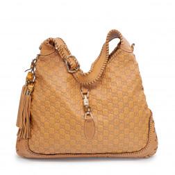 Bolso New Jackie Guccissima Large shoulder bag de peel marron