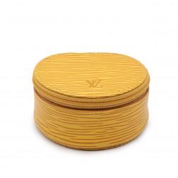 Ecrin à bijoux de voyage en cuir épi jaune Tbilissi P.M.