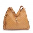 Sac New Jackie Guccissima Large shoulder bag cuir marron clair