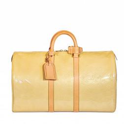 Bolso Keepall 50 en charol beige