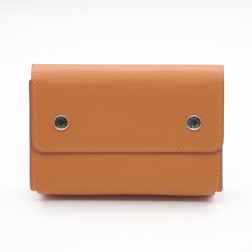 Caja de acuarelas de viaje, piel Swift naranja