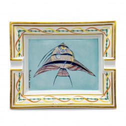 Cenicero Pez de porcelana de Limoges