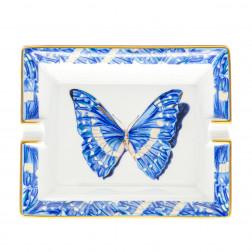 Cenicero Mariposa de porcelana de Limoges